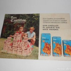 Juguetes antiguos Exin: FOLLETO PUBLICITARIO EXIN CASTILLOS DORSO EXIN ASTRO. Lote 128571991