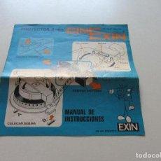 Juguetes antiguos Exin: MANUAL DE INSTRUCCIONES ORIGINAL DE 1972 DEL PROYECTOR CINEXIN DE EXIN CS136. Lote 128629611