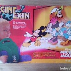 Juguetes antiguos Exin: PROYECTOR CINEXIN DISNEY'S MICKEY MOUSE CON 4 PELICULAS. Lote 128664475