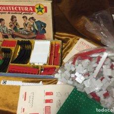 Juguetes antiguos Exin: ARQUITECTURA EXIN AÑOS 60 CAJA COMPLETA, DOCUMENTACION Y BLOQUES . Lote 129089515