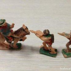 Juguetes antiguos Exin: LOTE FIGURAS ORIGINALES CABALLERO Y BALLESTEROS ARQUEROS EXIN CASTILLOS AÑOS 70. Lote 129177179