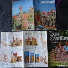 Juguetes antiguos Exin: LOTE CATÁLOGO EXIN CASTILLOS 1 2 3 AÑOS 70S Y MANUAL PLAYMOBIL CASTILLO ESPAÑOL. Lote 129351463