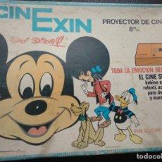 Juguetes antiguos Exin: CINEXIN CON SU CAJA NARANJA MANUAL DE INSTRUCCIONES Y 3 PELICULAS CINE EXIN. Lote 131101012