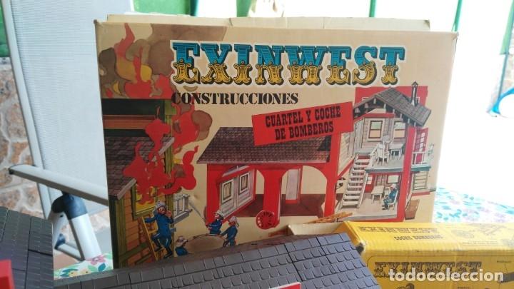 Juguetes antiguos Exin: parque de bomberos EXIN WEST EXINWEST COCHE DE BOMBEROS PERSONAJES Y MAS EN CAJA - Foto 27 - 121982847