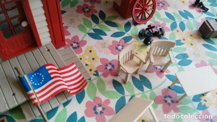Juguetes antiguos Exin: parque de bomberos EXIN WEST EXINWEST COCHE DE BOMBEROS PERSONAJES Y MAS EN CAJA - Foto 31 - 121982847