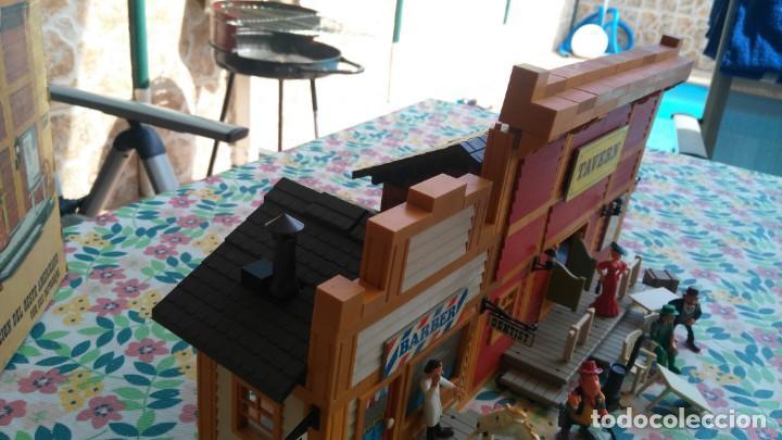 Juguetes antiguos Exin: antigua caja de exin west taverna barberia - Foto 6 - 133207530