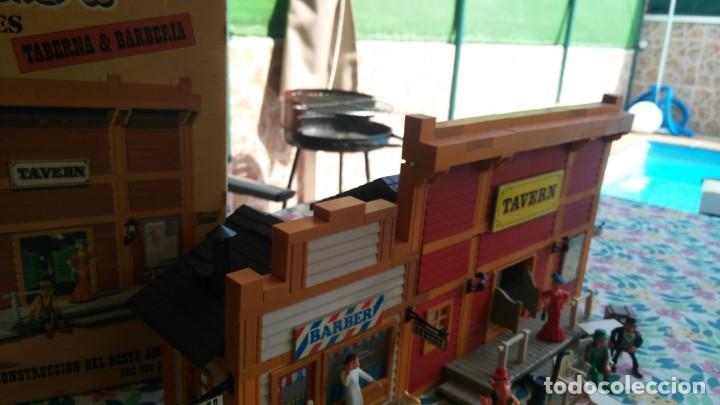 Juguetes antiguos Exin: antigua caja de exin west taverna barberia - Foto 12 - 133207530