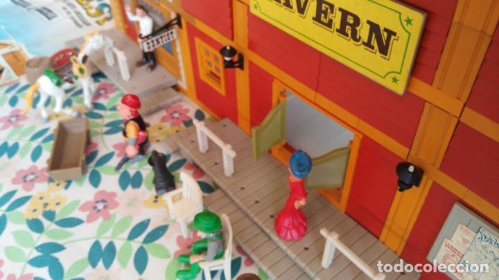 Juguetes antiguos Exin: antigua caja de exin west taverna barberia - Foto 34 - 133207530