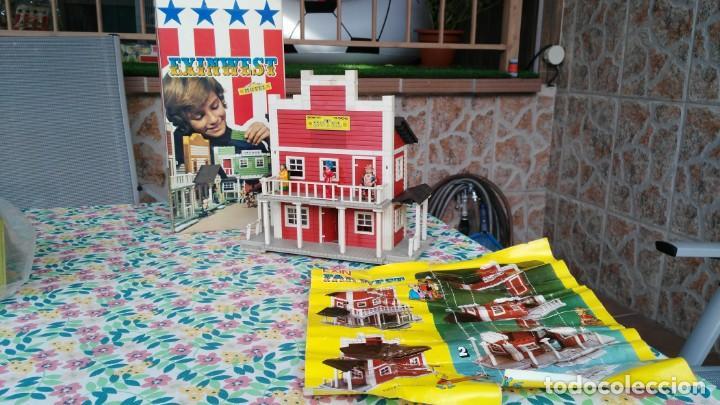 ANTIGUA CAJA DE EXIN WEST STABLE HOTEL (Juguetes - Marcas Clásicas - Exin)