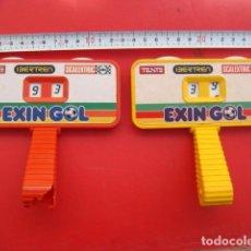 Juguetes antiguos Exin: DOS MARCADORES ORIGINALES DE EXIN GOL...CON PUBLICIDAD,IBERTREN-TENTE-SCALEXTRIC..IDEAL ...EXIN.. Lote 140760102
