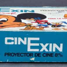 Juguetes antiguos Exin: CINE EXIN NARANJA EN CAJA AZUL 8 MM AÑOS 60. Lote 144376690