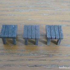 Juguetes antiguos Exin: 3 TABURETES ORIGINALES DE EXIN WEST PINTADOS EN ALTA CALIDAD. Lote 147399454