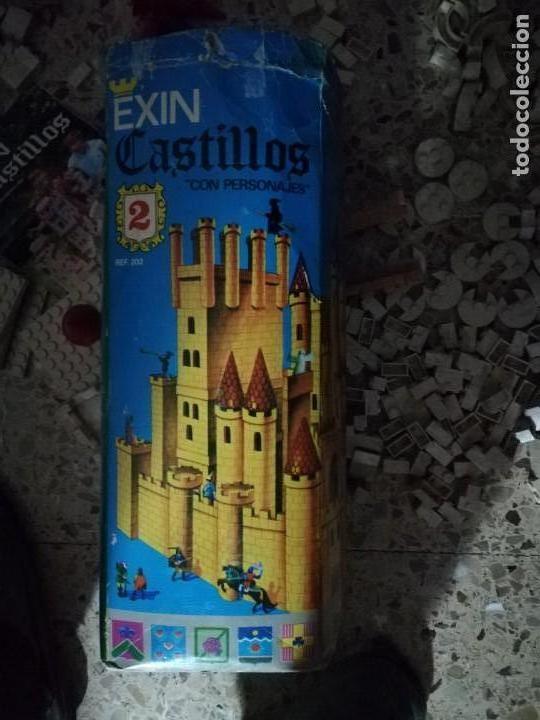 Juguetes antiguos Exin: EXIN CASTILLOS 2 se vende lo que se ve en fotos, unas 580 piezas .tapa reparada - Foto 3 - 145555542