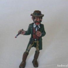 Juguetes antiguos Exin: FIGURA DE VAQUERO DEL SALOON ORIGINAL DE EXIN WEST PINTADO EN ALTA CALIDAD. Lote 148165298