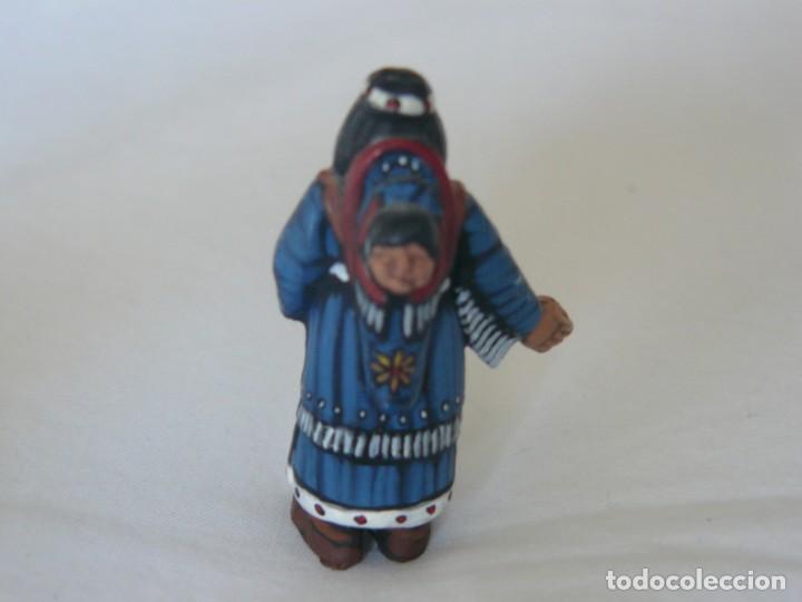 Juguetes antiguos Exin: INDIA CON BEBE ORIGINAL DE EXIN WEST PINTADA EN ALTA CALIDAD - Foto 2 - 148167782