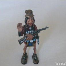 Juguetes antiguos Exin: INDIO CON RIFLE ORIGINAL DE EXIN WEST PINTADO EN ALTA CALIDAD. Lote 148168294