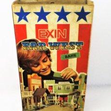 Juguetes antiguos Exin: EXIN WEST BANCO COMPLETO E INVENTARIADO. Lote 148584718