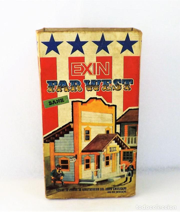 Juguetes antiguos Exin: Exin West Banco Completo e inventariado - Foto 2 - 148584718