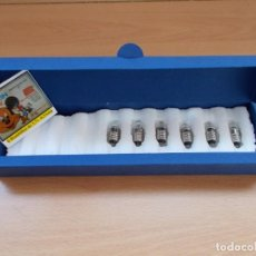 Juguetes antiguos Exin: PARA CINEXIN 8MM LOTE DE 6 BOMBILLAS DE 3,7V LAMPARAS DE PROYECCIÓN GOTA LENTE.NUEVAS!. Lote 148603114