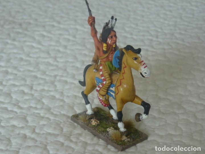 Juguetes antiguos Exin: EXIN WEST INDIO A CABALLO PINTADO EN ALTA CALIDAD - Foto 2 - 148784606