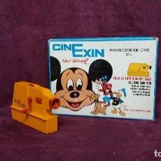 Juguetes antiguos Exin: ANTIGUO PROYECTOR DE CINE INFANTIL, CINEXIN, 8MM, CAJA ORIGINAL. Lote 151951982