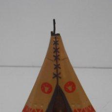 Juguetes antiguos Exin: EXIN WEST, TIENDA INDIA ROJA, TIPI INDIO, ORIGINAL AÑOS 70, MUY DIFICIL. Lote 152018358