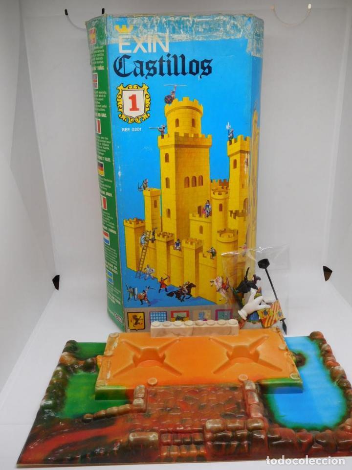 EXIN CASTILLOS Nº 1 EN CAJA. COMPLETO CON BASE Y FIGURAS. UNA JOYA. (Juguetes - Marcas Clásicas - Exin)