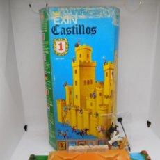 Juguetes antiguos Exin: EXIN CASTILLOS Nº 1 EN CAJA. COMPLETO CON BASE Y FIGURAS. UNA JOYA. . Lote 152557194