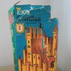 Juguetes antiguos Exin: JUEGO DE CONSTRUCCIÓN CAJA EXIN CASTILLOS Nº 1, SERIE AZUL, REF. 201. ¡COMPLETO! CON INSTRUCCIONES. Lote 151163750