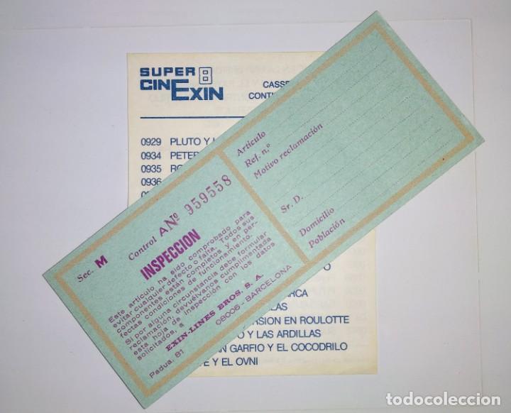 CATALOGO LISTADO PELICULAS SUPER CINEXIN EXIN 8 Y HOJA INSPECCIÓN (Juguetes - Marcas Clásicas - Exin)