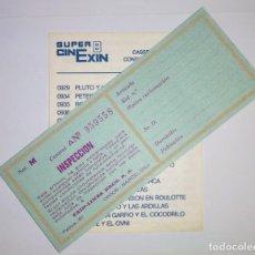 Juguetes antiguos Exin: CATALOGO LISTADO PELICULAS SUPER CINEXIN EXIN 8 Y HOJA INSPECCIÓN. Lote 154859842