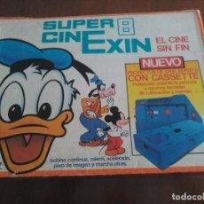 Juguetes antiguos Exin: SUPER CINEXIN CON 3 PELÍCULAS, FUNCIONANDO. INCLUYE BOMBILLA DE REPUESTO Y PILAS NUEVAS. CINE EXIN. Lote 154936610