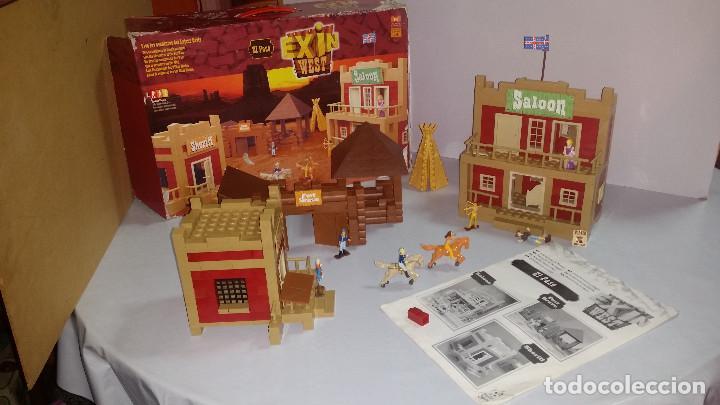 Juguetes antiguos Exin: EXIN WEST -EL PASO COMPLETO EN PIEZAS Y FIGURAS CON MANUAL.(con caja) - Foto 2 - 156555902