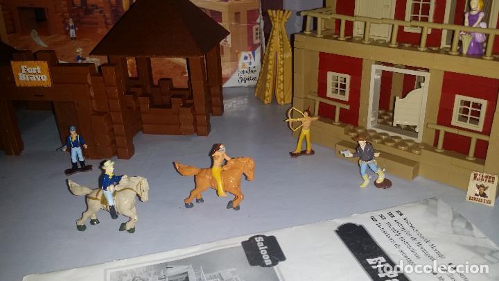 Juguetes antiguos Exin: EXIN WEST -EL PASO COMPLETO EN PIEZAS Y FIGURAS CON MANUAL.(con caja) - Foto 7 - 156555902