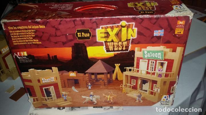 Juguetes antiguos Exin: EXIN WEST -EL PASO COMPLETO EN PIEZAS Y FIGURAS CON MANUAL.(con caja) - Foto 20 - 156555902
