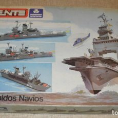Juguetes antiguos Exin: CAJA TENTE LOS INTREPIDOS NAVIOS VACIA. Lote 156556486