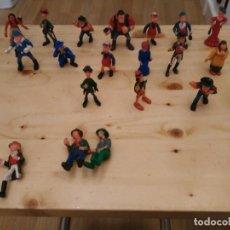 Juguetes antiguos Exin - LOTE FIGURAS-MUÑECOS-WEST-OESTE-Originales años 60-70 - 156901682