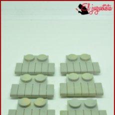 Juguetes antiguos Exin: FRACA 74 - EXIN WEST OESTE - ESCALON TABLAS GRIS SUELO X6. Lote 160261958