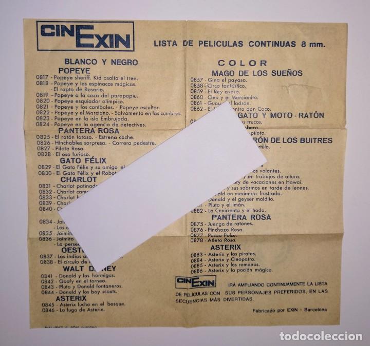 INSTRUCCIONES BOBINA LISTADO LISTA PELICULAS PROYECTOR CINEXIN EXIN NARANJA (Juguetes - Marcas Clásicas - Exin)