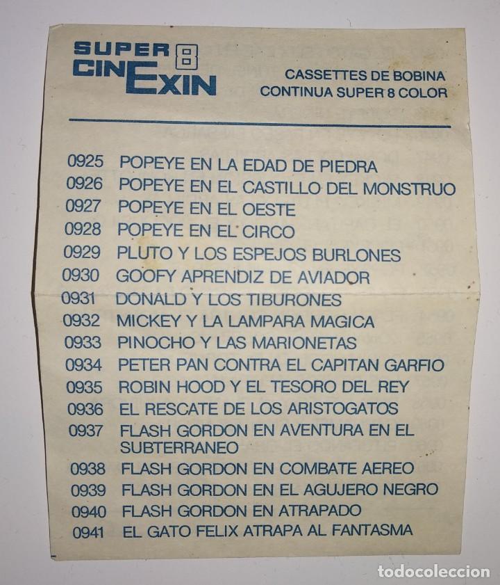 LISTADO CATALOGO PELICULAS BOBINAS CONTINUAS SUPER CINEXIN 8 EXIN 1984 (Juguetes - Marcas Clásicas - Exin)