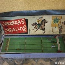 Juguetes antiguos Exin: CARRERAS DE CABALLOS EXIN (SABATES) EN SU CAJA ORIGINAL. Lote 166096242