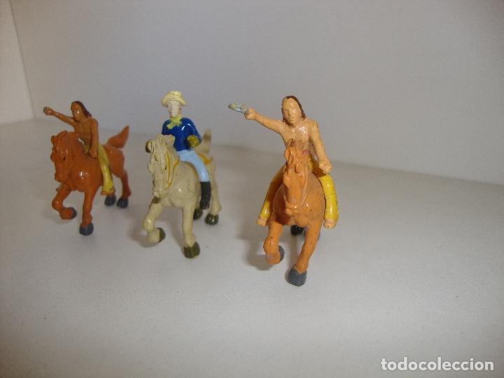 Juguetes antiguos Exin: (TC-202/ 19) LOTE DE FIGURAS DE EXIN WEST ????? - Foto 3 - 166297406