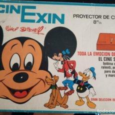 Juguetes antiguos Exin: CINEXIN EN CAJA AZUL, PROYECTOR NARANJA + 3 PELICULAS - EN FUNCIONAMIENTO. CINE EXIN. Lote 167098488