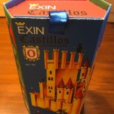 Juguetes antiguos Exin: CAJA EXIN CASTILLOS AZUL NUMERO 0. REPRODUCCION.. Lote 168727093