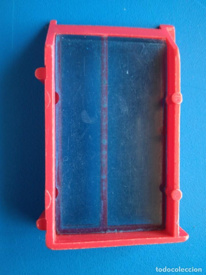 Juguetes antiguos Exin: VENTANA GRANDE ROJA CON CRISTALES AZULES Y ANGULO IZQUIERDO DE ARQUITECTURA EXIN BLOK - Foto 2 - 169763216