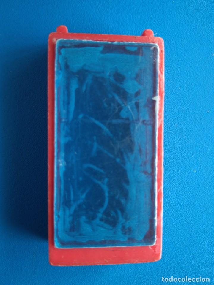 Juguetes antiguos Exin: PUERTA ROJA CON CRISTALES AZULES DE ARQUITECTURA EXIN BLOK - Foto 2 - 169763800