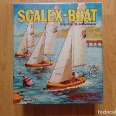 Juguetes antiguos Exin: SCALEX-BOAT 'REGATAS DE SOBREMESA' AÑOS '70. Lote 172882258