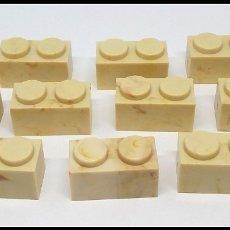 Juguetes antiguos Exin: LOTE 10 PIEZAS BLOQUE 1X2 EXIN CASTILLO POPULAR JUGUETES. Lote 173870018