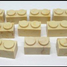 Juguetes antiguos Exin: LOTE 10 PIEZAS BLOQUE 1X2 EXIN CASTILLO POPULAR JUGUETES. Lote 173870039