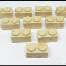 Juguetes antiguos Exin: LOTE 10 PIEZAS BLOQUE 1X2 EXIN CASTILLO POPULAR JUGUETES. Lote 173870130